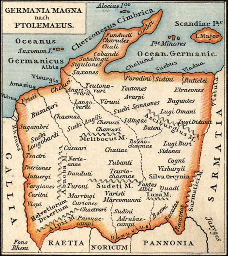 2nd century Germania map