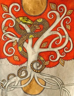 World tree with serpent