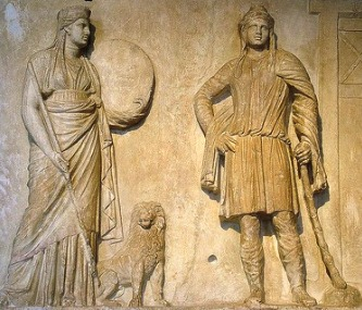Cybele and Attis relief