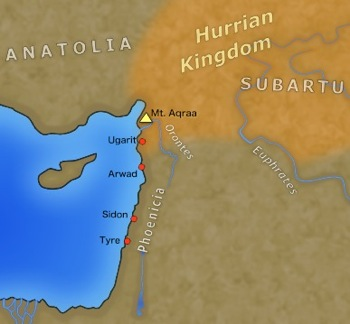 Ugarit, Arwad, Sidon, Tyre and Mt. Aqua